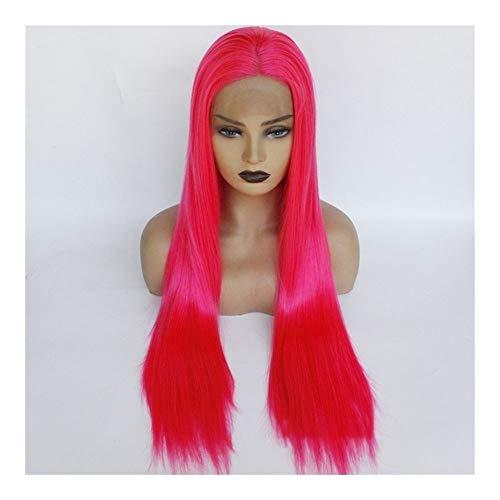 Xiang Ye Européens et américains à long carve droite perruque de cheveux perruque perruque de cheveux longue ligne droite (Color : 24 inches)