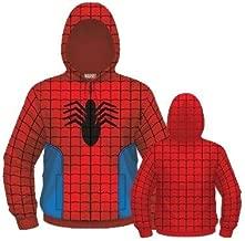 spider-man suit on