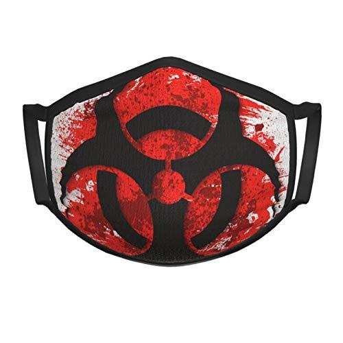 Quarantine Sign Biohazard Danger Virus Warning Teenager Black Border Masks Adjustable Anti Dust Face Mask,Washable Reusable Mouth Mask