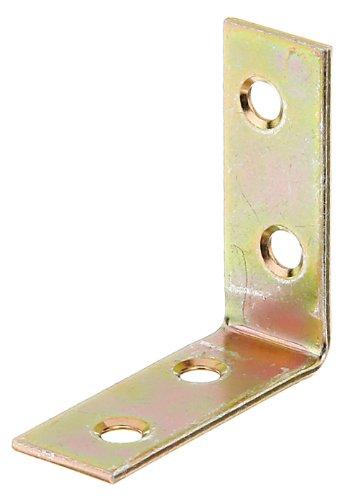 GAH-Alberts 339470 Stuhlwinkel | galvanisch gelb verzinkt | 40 x 40 x 15 mm | 50er Set