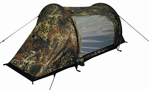 MFH 1 Personen Tunnelzelt Arber Zelt Campingzelt 230x80x75cm(Flecktarn)