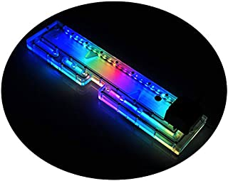 Water Channel Block Waterway Block 5V RGB LED Water Cooling Reservoir 12V Water Cooled Pump Combo for PC Computer Case Thermaltake TT Core P5