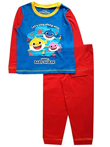 Baby Shark Pijama para niños y niñas Azul/Rojo 3-4 Años