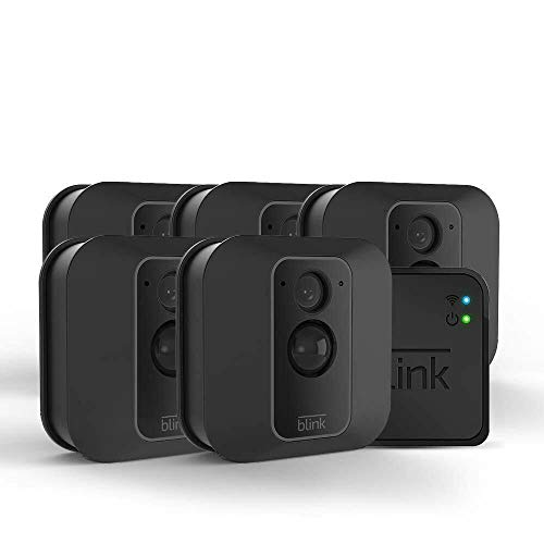 Blink XT2 Indoor/Outdoor WiFi 1080p with 2 Way Audio, 2 Year Battery with Sync Module – 5 Camera...