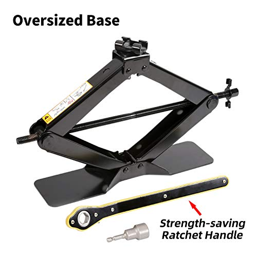 LEADSTAND Scissor Jack is 2.5 tons(5511lbs), Labor-saving Design, Enlarged...