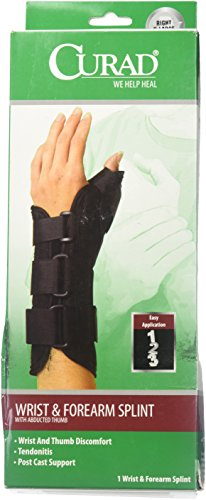 Curad Wrist and Forearm Splint with Abducted Thumb, Right, X-Large