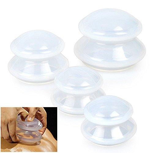 Home Silicone Spa Cupping Kit de massage Cuvettes de thérapie Set pour la douleur musculaire Soulagement de la douleur