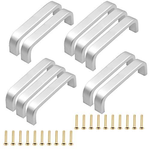 XYDZ Tiradores de Barra de Aluminio, 10pcs Hollow Cocina Tirador Armario Gabinete Manija de la Puerta de Metal Barra de la Manija de Puerta de Aleación de Aluminio(96MM), con 20 tornillos