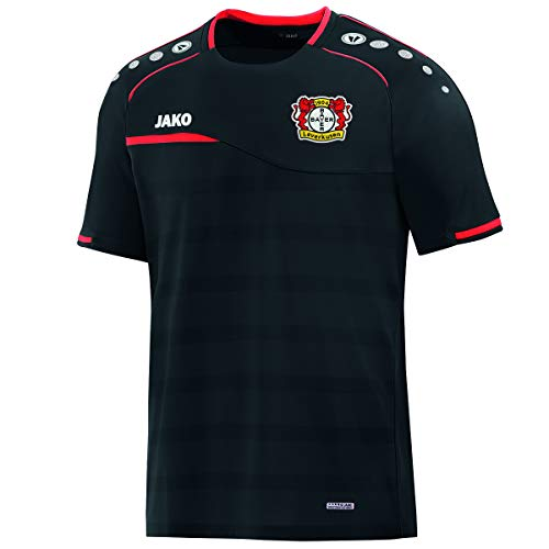 JAKO Herren Prestige (ohne Sponsoren), (Saison 19/20) Bayer 04 Leverkusen T-Shirt, schwarz/Rot, M