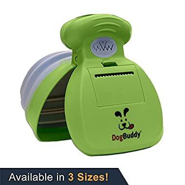 DogBuddy NEW Pooper Scooper - Small, Medium or Large Dog Pooper Scooper - Portable Poop Scoop - Dog Poop Scooper With Waste Bag Dispenser - Medium - Kiwi