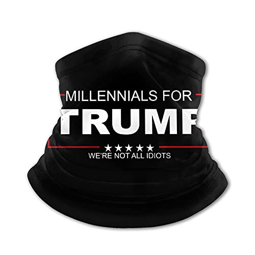 MILLENNIALS for Trump Kids Neck Gaiter Summer Face Breathable Ice Silk Bandana Face Scarf Headband Black