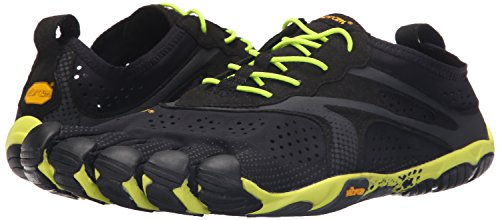 Vibram Men's V Running Shoe, Black/Yellow, 9-9.5