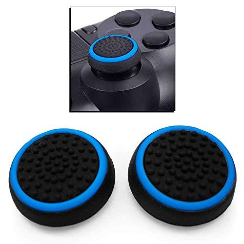 Ociodual 2X Flexiblem Daumen Thumb Grip Silikon Kappen Abdeckung Blau Kompatibel mit PS4/Slim/Pro/FAT Controller