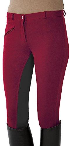 Pfiff, Pantalones de Equitación Para Mujer, Red (Red/Gray), 176 EU