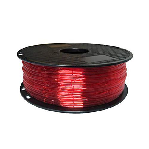 LHF 3D Printing Filament,Flexible TPU 1kg Filament,1.75mm Used For 3D Printer And 3d Printing Pen Transparent Red Tpu 500g