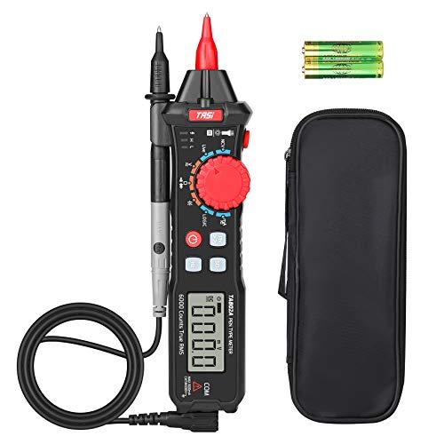 VANPO Multímetro Digital, Portátil Tipo de Lápiz Pantalla de Retroiluminación LCD, NCV, Probador de Resistencia de Voltímetro CA CC, 6000 Cuentas, Medir Voltaje, Frecuencia, Continuidad, Diodo, LOGIC