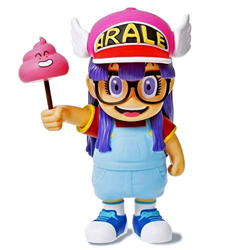 Romantic-Z Anime Cartoon Dr.Slump Arale con heces PVC Figura de acción Modelo de Juguete 20 cm