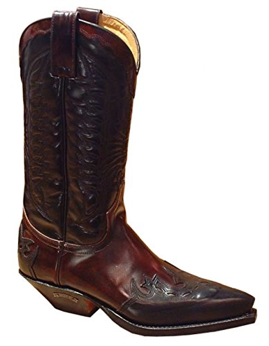 Sendra Boots 2476 schwarz-Cherry Gr. 41