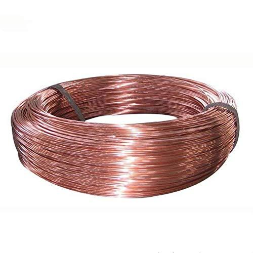AGiao Easy to Use and Install 5M / 2M / 1M Diámetro 0,2/0,3/0,4/0,5/0,6/0,8/1 / 1,2/1,5/1,8/2 / 2,5/3/4/5 Mm Cable de Cobre T2 Copper Red Cable de Cobre Bare Wire High Temperature Resist