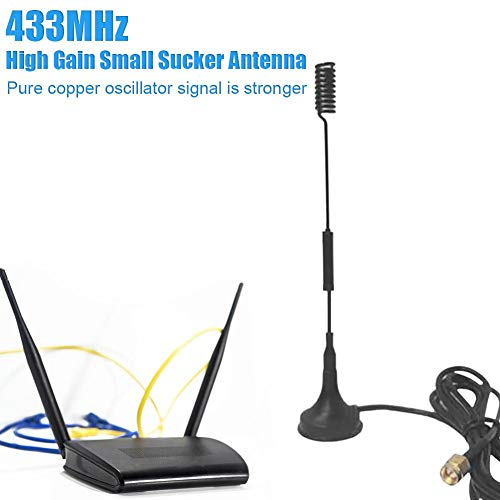 Antenne 433 MHz Wireless High Gain antenne, Small Sucker antenne met Pure Copper Mast, Wireless High Gain Long Range