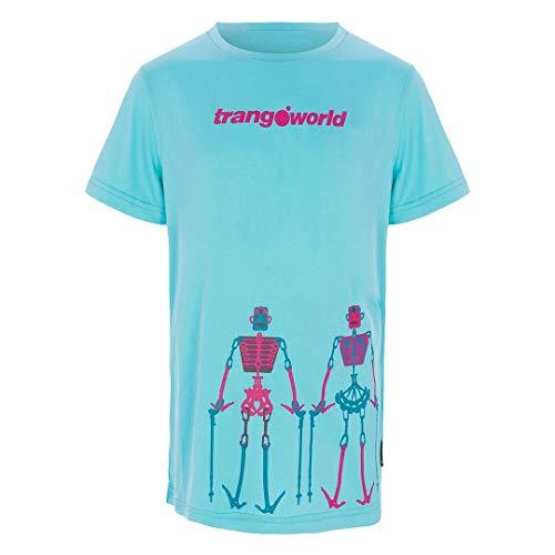 Trangoworld Teleno T-Shirt Mixte Enfant, Multicolore-Bleu (Azul isla), 12