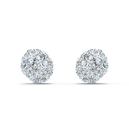 Swarovski Orecchini Stud So Cool, Bianco, Placcato Rodio