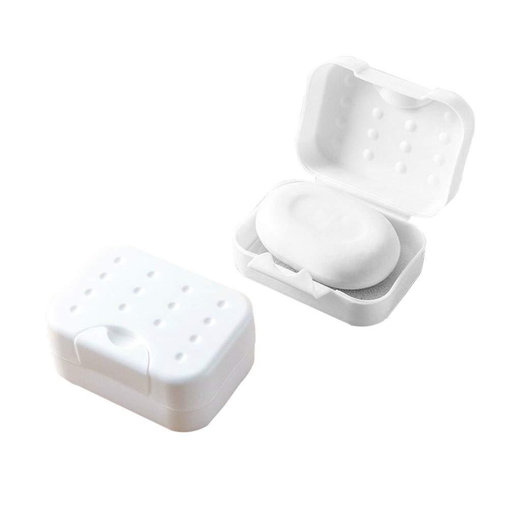 Gfdsase Jaboneras Simple Caja de Jabón de Viaje Portátil Caja de Jabón Plástico Durable Impermeable Potente Esponja Jabonera para Jabón para Acampar En Casa baño 2 unids Mejorar la Limpieza del Baño: