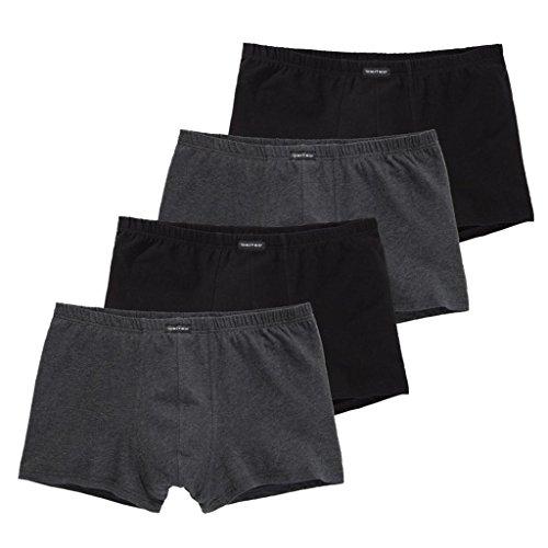 CiTO - Modern Basics - 95/5 - Herren Pants - 4er-Pack (7 Schwarz/Grau-Melange)
