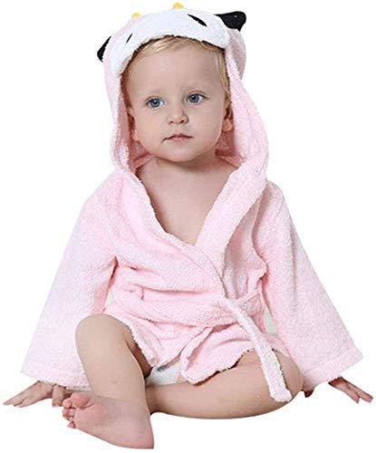 Eastery Kinder Bademantel Baby Cotton Animal Bade Strickjacke Cardigan Nightgown Spa Einfacher Stil Handtuch Strandtuch Basic Bequem Fashion Cute Kinder Kleidung (Color : Cow, Einheitsgröße : M)