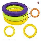 Maxte - Discos voladores para mascotas con anillo de entrenamiento para perros, resistente a mordeduras, juguete flotante para cachorros al aire libre