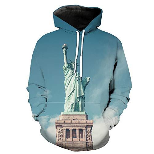 LiXiangTfC Mann / Frau Blue Casual Hoodie Liberty Print 3D Sportswear-Tylmsljj262_5XL