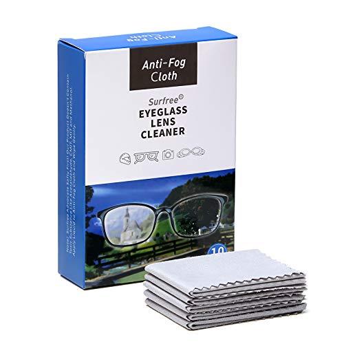 Antibeschlagtuch Tücher für Brillen (10 Stück),Nano Anti-Fog Tuch,Anti-Beschlag-Reinigungstücher für Brillen,Wiederverwendbare Brillentücher für Objektive,Brillen,Telefon,LCD-TV-Bildschirm