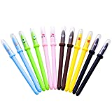 12 Pieces Jelly cat pen Liquid Ink Pens Set for Office School Supplies kids drawing Pen Gifts for Boys and Girls students Any Party Wirtting (Animal Expression)
