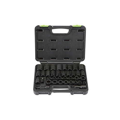 37 Pc 3/8 in., 1/2 in. Drive SAE & Metric Impact Socket Set Pittsburgh - Item#68011