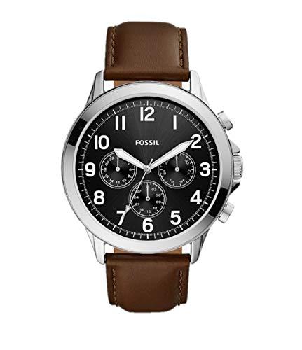 Fossil Yorke BQ2543 - Reloj multifunción de cuero marrón para hombre