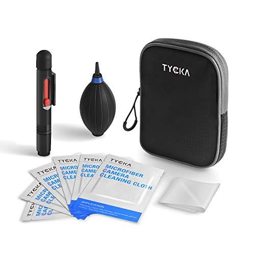 TYCKA Kit de Limpieza de Cámara Profesional, Soplador de Aire Mejorado, Lápiz de Lente, Paño de Limpieza de Microfibra para Lente, DSLR y Pantalla LCD