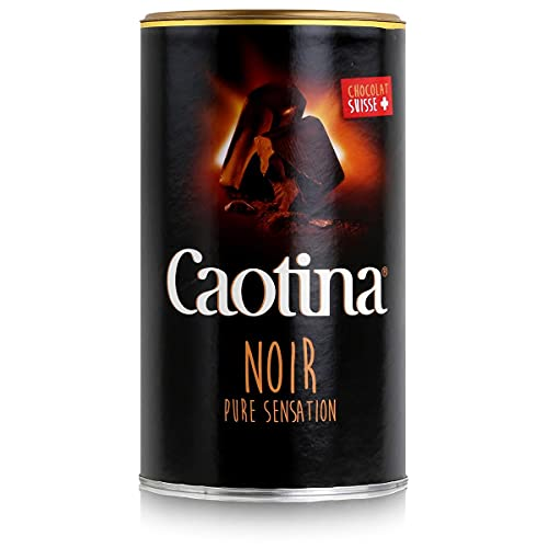 Caotina noir, Cacaopoeder met donkere Zwitserse Chocolade, Warme Chocolademelk, doos, 500g