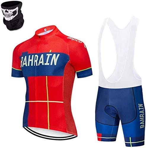 DIMPLEYA Ciclismo Trajes de Pantalones Cortos de Jersey con Almohadilla de Gel para Andar en Bicicleta al Aire Libre, Babero de Ciclo Combinado de septiembre