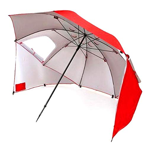 Beach Tent Sun Shelter Compact Shade Canopy Portable Easy Waterproof Sunshade Anti Uv Protection Wind Best Family Outdoor Rain Sun Umbrella Weather Protection Outside Camping Red and eBook NAKSHOP