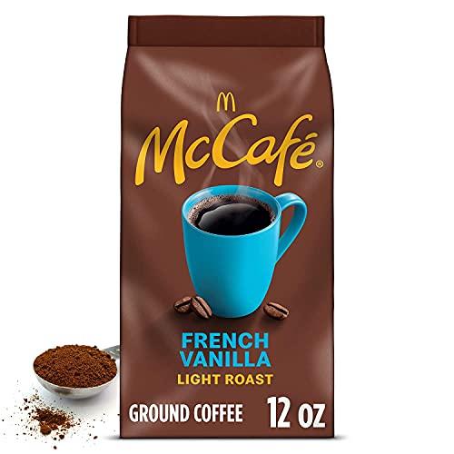 McCafe French Vanilla, Flavored Light Roast Ground Coffee, 12 oz Bag