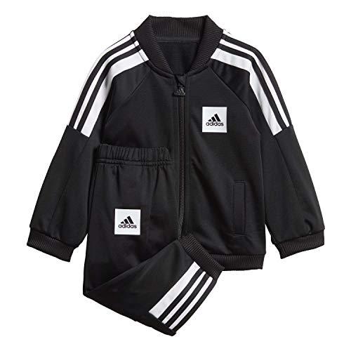 adidas Baby I Shiny Sportanzug Kinder, Black/White/Black, 92