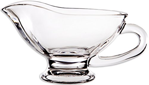 Circleware Saucy Glass Gravy Dish with Handle, 10 oz, Clear