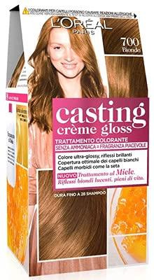 Set 3 CASTING Creme Gloss 700 Biondo Tinta E Colore Per Capelli
