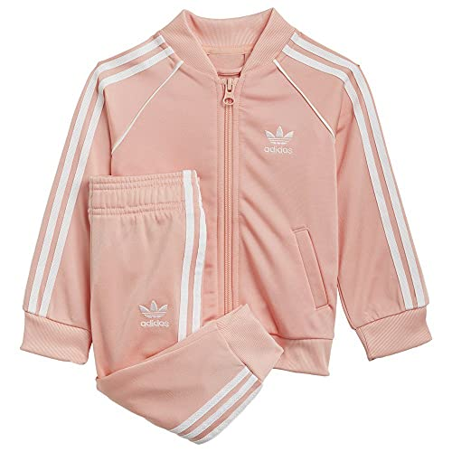 adidas GN8440 SST Tracksuit Tracksuit Unisex-Child Glow Pink/White 2-3A