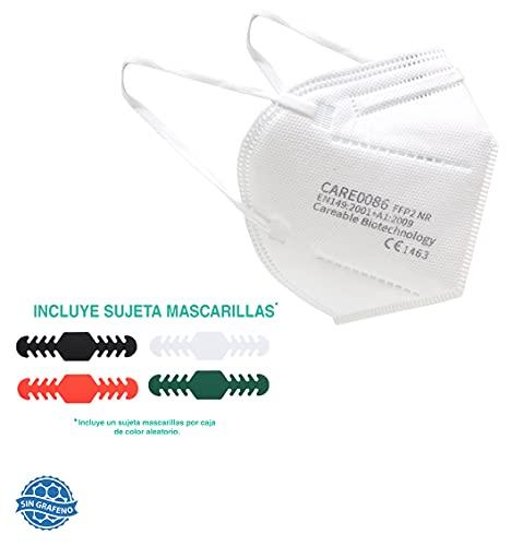 Mascarilla FFP2 CE 1463 WottoCare, 20 uds FFP2 + 1 Sujeta Mascarilla. Bolsa Individual 5 capas. Alta eficiencia filtración. Pinza Nasal Suave/Ajustable, Mascarilla Profesional, Nueva Referencia
