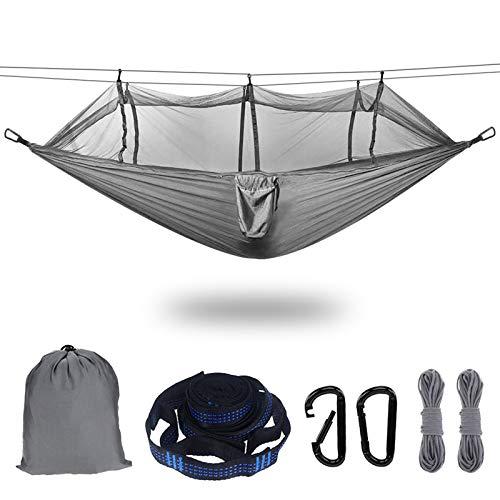 Hamaca de Mosquitero Ultra Ligera para Viaje y Camping,300kg de Capacidad de Carga,Nylon de Paracaídas de Secado Rápido,Mosquetones Premium,Correas de Nylon Incluidas,Portátil
