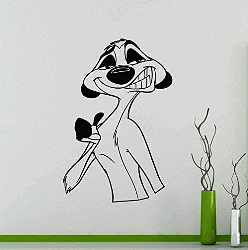 Pegatinas de pared Decoración del hogar Papel pintado Rey León Pegatinas interiores de dibujos animados Habitación...