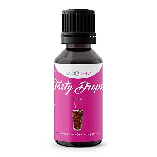 GymQueen Tasty Drops 30ml | Kalorienfreie, Zuckerfreie und Fettfreie Flavour Drops | Aroma Tropfen zum Süßen von Lebensmitteln | Geschmackstropfen ohne Künstliche Farbstoffe I Cola