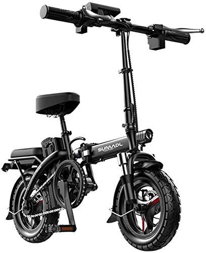 Bici electrica, Bicicletas eléctricas rápida for adultos pequeña bicicleta eléctrica for los adultos, 14' bicicleta eléctrica / conmuta Ebike Distancia del viaje 30-140 km, 48V de la batería, 3 Veloci