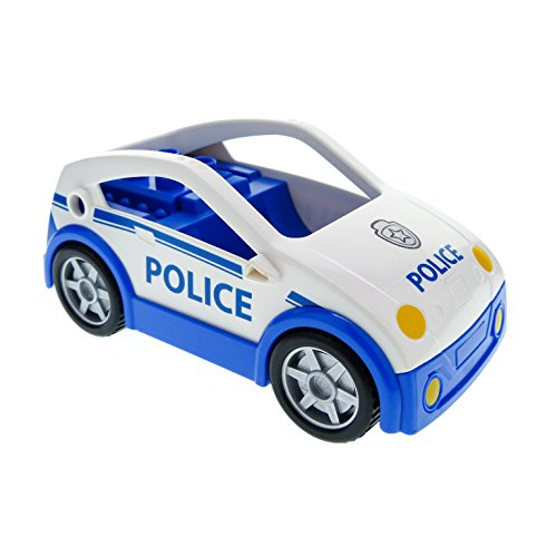 Polizeistreife Polizei Auto PKW Buggy blau weiß Transporter Pickup Police 4963 5681 Lego Duplo C41